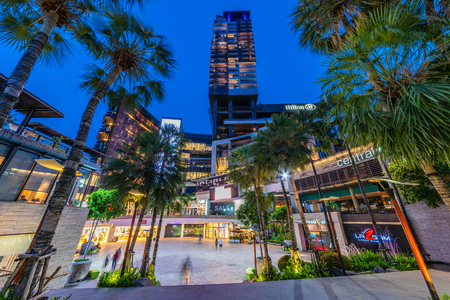 PATTAYA, THAILAND - JULY 08: This is Central festival Pattaya beach, a famous shopping mall located in the downtown area on July 08, 2018 in Pattaya