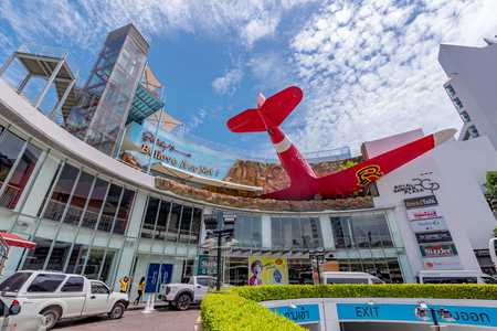 PATTAYA, THAILAND - JUNE 09: This is Royal Garden Plaza shopping mall, a famous mall located in the downtown area on June 09, 2018 in Pattaya 에디토리얼