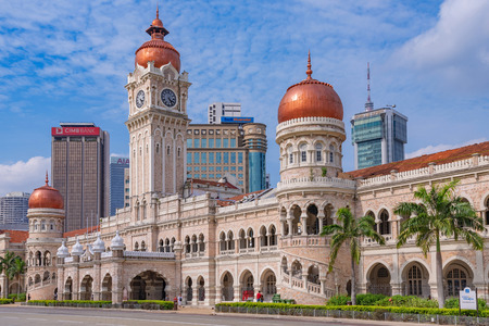 KUALA LUMPUR, MALAYSIA - JULY 22: This is a view of the Sultan Abdul Samad Building, an historic building in Merdeka Square on July 22, 2018 in Kuala Lumpur