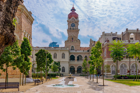 KUALA LUMPUR, MALAYSIA - JULY 22: This is a view of the Sultan Abdul Samad Building an historic building and popular travel destination on July 22, 2018 in Kuala Lumpur
