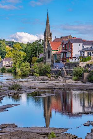 LLANGOLLEN, UNITED KINGDOM - SEPTEMBER 04: View of Llangollen town, a small historic town along the river dee in North Wales on September 04, 2018 in Llangollen Redakční