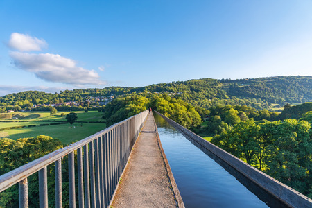 Pontcysyllte Aqueduct an historic bridge in North Wales, UK