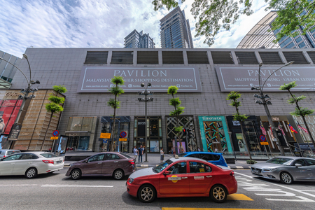 KUALA LUMPUR, MALAYSIA - JULY 25: This is the Pavilion shopping mall, a luxury shopping center located in Bukit Bintang in the downtown area on July 25, 2018 in Kuala Lumpur