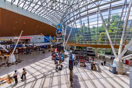 KUALA LUMPUR, MALAYSIA - JULY 25: This is the interior architecture of KLIA international airport on July 25, 2018 in Kuala Lumpur Editorial