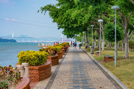 Seaside park at Gulangyu Island in Xiamen Stock Photo