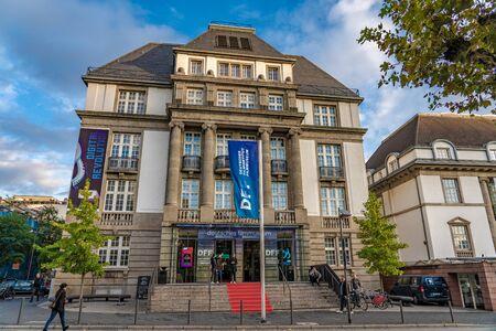 FRANKFURT, GERMANY - SEPTEMBER 25: This is the Frankfurt film museum, a famous landmark and popular tourist destination on September 25, 2019 in Frankfurt 에디토리얼