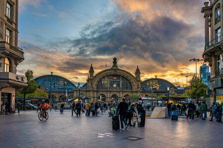 FRANKFURT, GERMANY - SEPTEMBER 25: This is a view of the Hauptbahnhof main train station in the downtown area on September 25, 2019 in Frankfurt