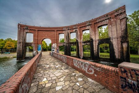 SAARBRUCKEN, GERMANY - SEPTEMBER 23: This is an old structure in Bürger Park, a popular tourist destination on September 23, 2019 in Saarbrucken