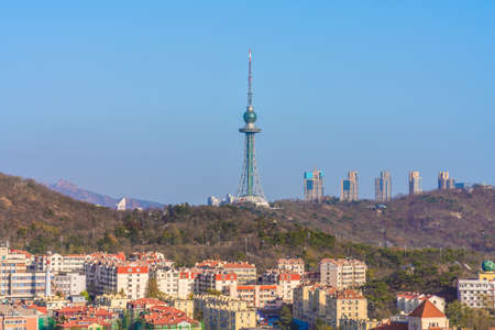 QINGDAO, CHINA - NOVEMBER 14: This is a view of the Qingdao TV Tower, a famous landmark building on November 14, 2019 in Qingdao