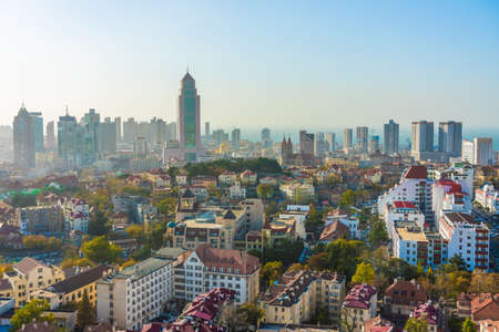 QINGDAO, CHINA - NOVEMBER 14: View of the Zhongshan Road district, an area known for its traditional european architecture and history on November 14, 2019 in Qingdao