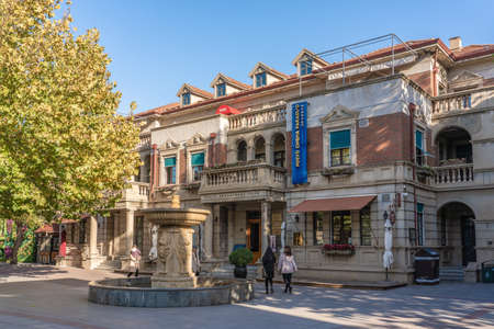 TIANJIN, CHINA - NOVEMBER 19: Traditional architecture in the Italian Style Town, a popular tourist destination on November 19, 2019 in Tianjin Stock Photo - 147381432