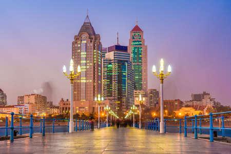 QINGDAO, CHINA - NOVEMBER 14: View of the Zhanqiao Pier, a famous landmark along the waterfront on November 14, 2019 in Qingdao