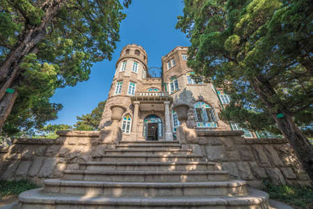 QINGDAO, CHINA - NOVEMBER 15: This is the Huashi Villa, an historic site located in the Badaguan scenic area on November 15, 2019 in Qingdao
