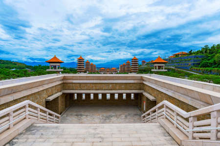 Traditional Buddhist  architecture on Fo Guang Shan