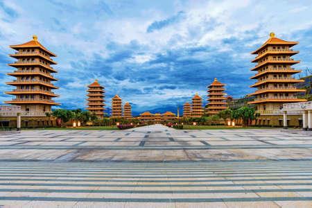 Beautiful evening view of Fo Guang Shan Buddha memorial center Editorial