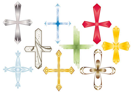 Recruitment of various type and color of the crosses. Vector. Stock Photo - 4372401