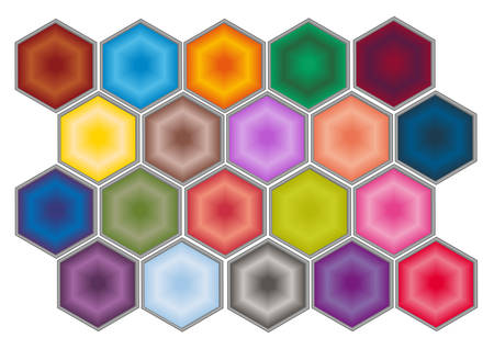A set of colorful web buttons. Vector. Stock Vector - 4587559