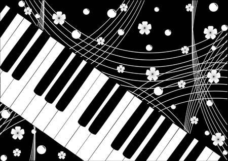 Musical instruments:  keyboard. Violin key. Vector. Vector