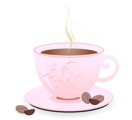 A cup of hot fresh coffee Illustration