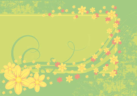 intricacy: Beautiful vector background with different elements Illustration