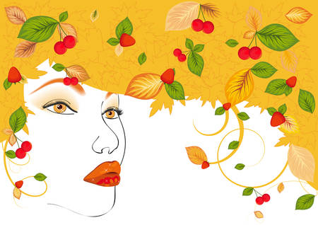 The woman - a fall Vector