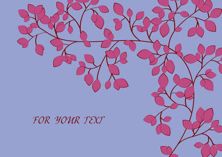 Background to the twigs and leaves. Vector. Stock Vector - 6520012
