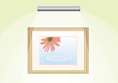 painting on the wall with lighting Stock Vector - 9840842