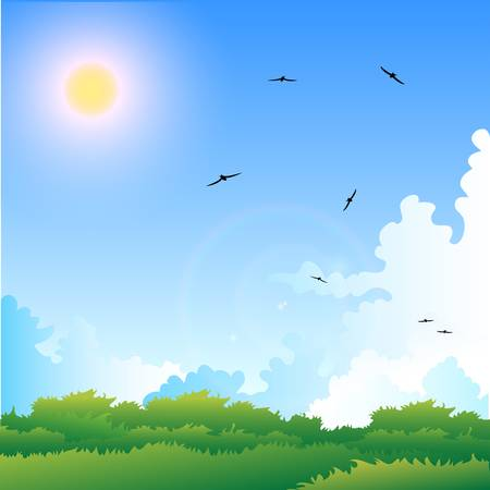 Illustration of a summer Stock Vector - 14503348
