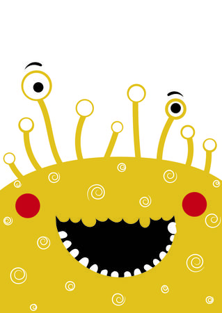 Cute monster vector illustration portrait