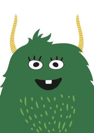 Cute monster vector illustration. vector illustration