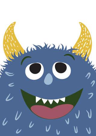 Illustration vectorielle de monstre mignon. illustration vectorielle Vecteurs