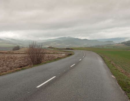 alava: Road in cloudy day Stock Photo