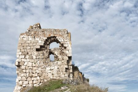 Ruined castle in zabalate - Portilla, Basque Country.