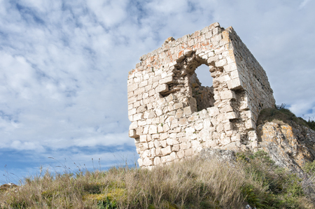 the basque country: Ruined castle in zabalate - Portilla, Basque Country, Basque Country..