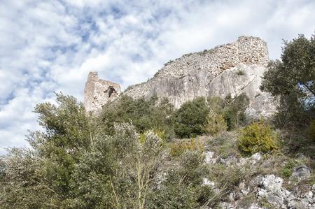 alava: Castle ruins of zabalate - Portilla Stock Photo