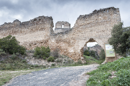 alava: Castle in ruins of Ocio, Basque Country.