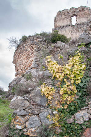donjon: main tower of the castle of Ocio in the Basque Country Stock Photo
