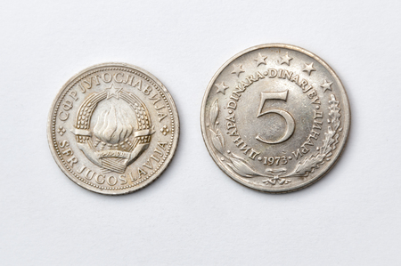 yugoslavia federal republic: five Yugoslav dinars uncirculated, 1973