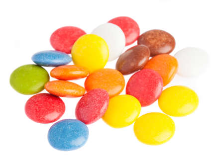 smarties: some smarties closeup on a white background