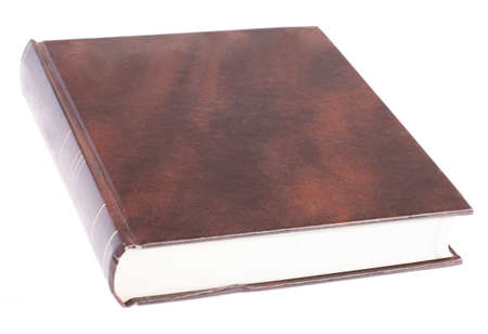 hardcover book: hardcover book closed on a white background