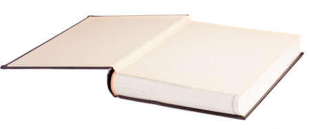 hardcover book: hardcover book opened on a white background