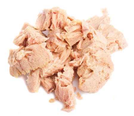 served tuna isolated on a white background