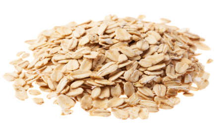 heap os oats on a white background