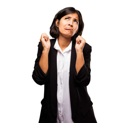 latin business woman doing looser gesture