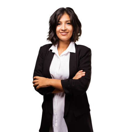 latin business woman crossed arms