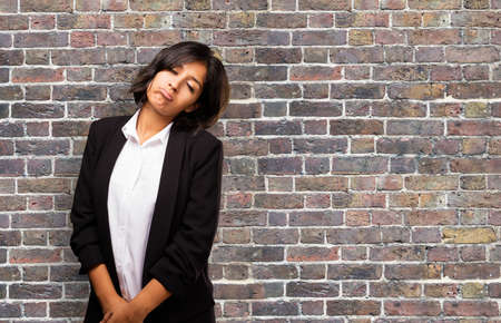 outworn: latin business woman feeling sad Stock Photo