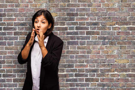 coughing: latin business woman coughing
