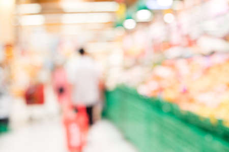 supermarket blurred background