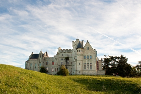 neo gothic: Chateau-Observatory Abbadia, overhanging the clives of Hendaye, France  Built by Viollet le Duc for Antoine d