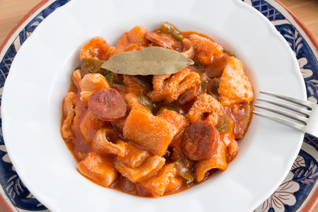 Spanish beef tripe dish called  callos  photo